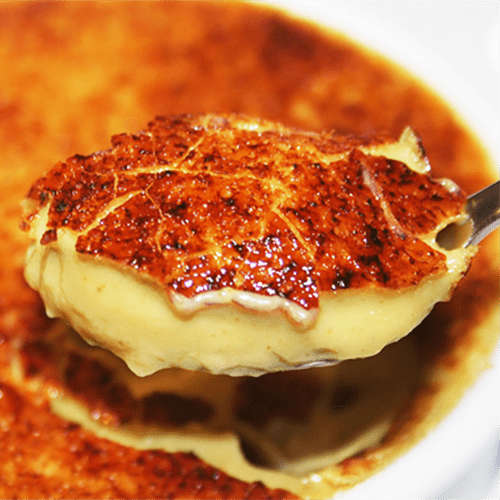 Crème brulée vanille-pistache