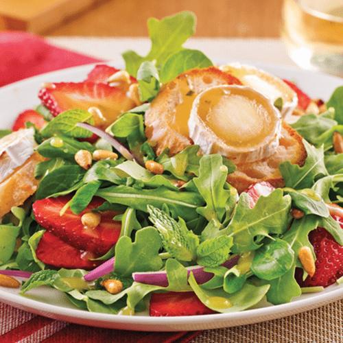 Salade de chèvre chaud, miel et noix