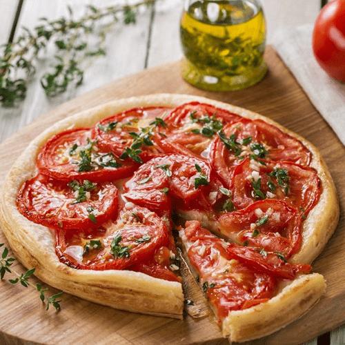 Tarte à la tomate, ricotta et moutarde