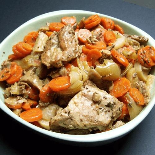 Tendrons de veau confit, carottes fondantes